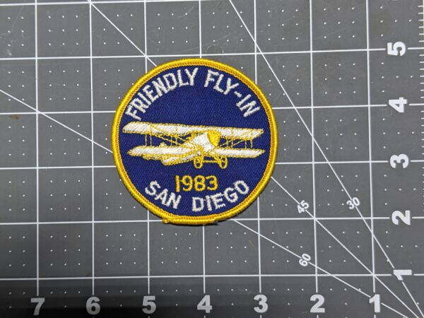 """San Diego Friendly Fly-In 1983 3"""" Patch"""