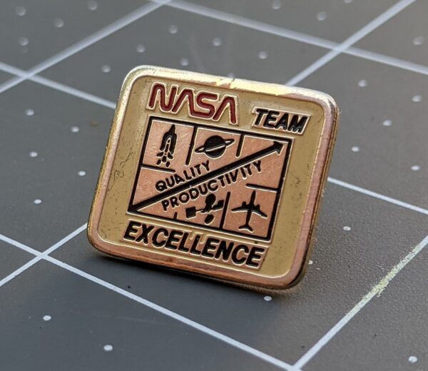 NASA Team Excellence - Quality/Productivity Pin
