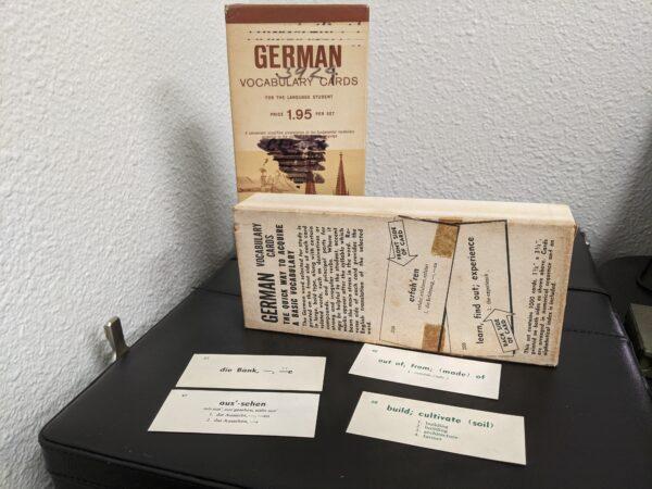 German Vocabulary Cards