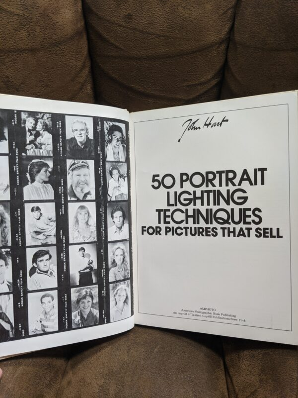 50 Portrait Lighting Techniques For Pictures That Sell by John Hart 1989