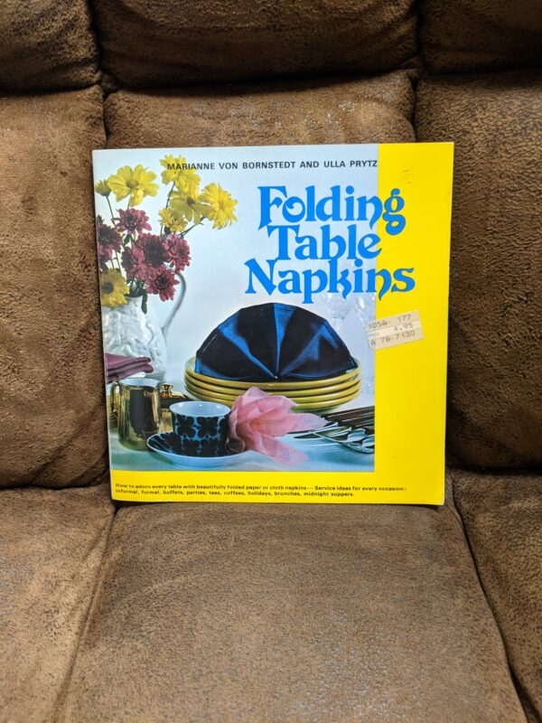 Folding Table Napkins by Marianne Von Bornstedt and Ulla Prytz 1986