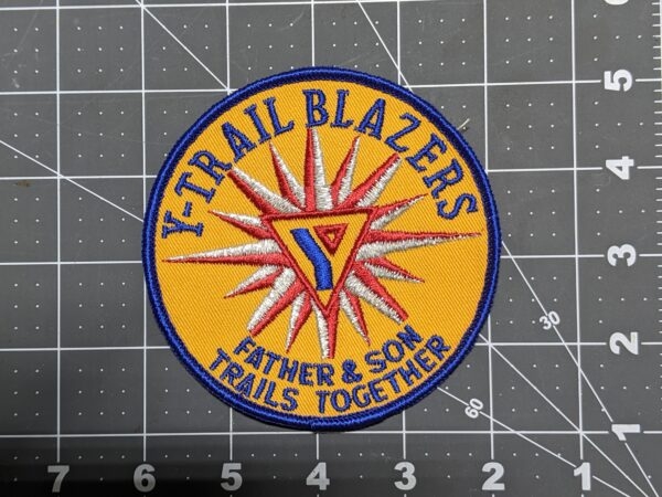 """Y Trailblazers - Father and Son - Trails Together YMCA 4"""" Patch"""