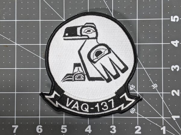 """Rooks VAQ-137 US Navy Electronic Attack Squadron 4"""" x 4.5"""" Patch"""