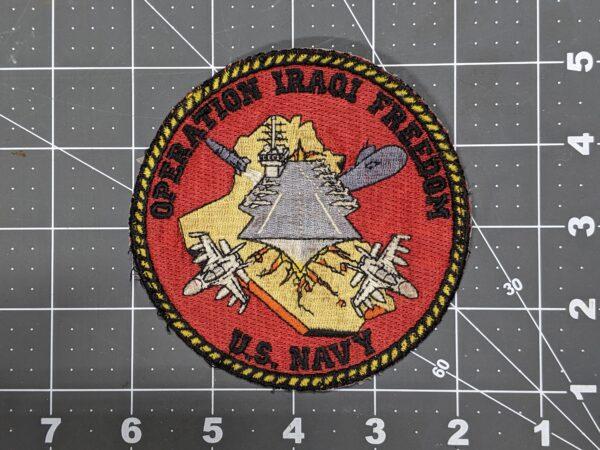 """Operation Iraqi Freedom - U.S. Navy 4"""" Patch"""