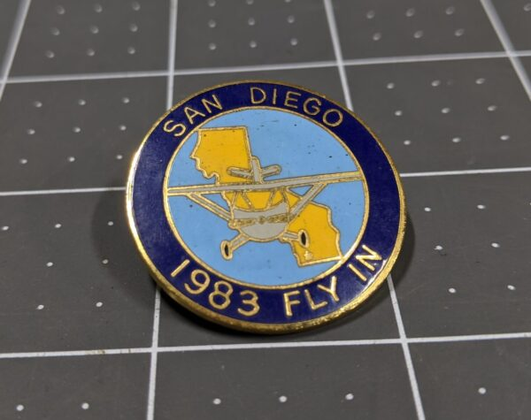San Diego 1983 Fly-in Pin