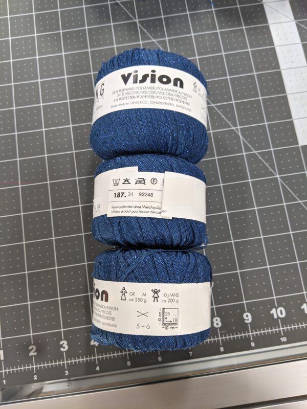 Vision - Lang Yarns - Blue Sparkles - 150g