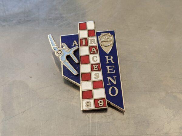 Reno Air Races - 1989 - Blue Commemorative Enamel Airplane Racing Pin