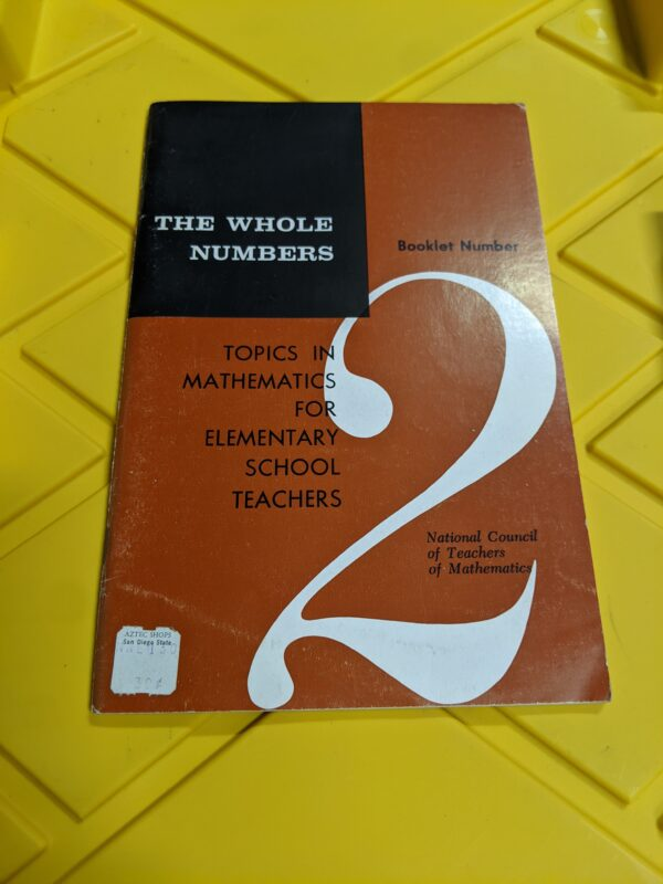 Topics In Mathematics For Elementary School Teachers: #8 Number Sentences by National Council of Teachers of Mathematics 1964