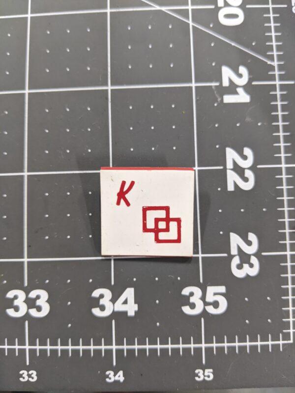 K - Vintage Square Dancing Pin