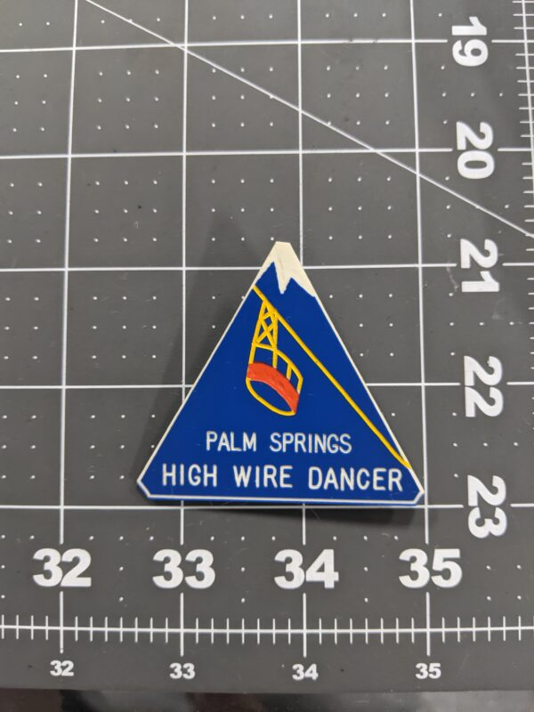 Palm Springs High Wire Dancer - Vintage Square Dancing Pin