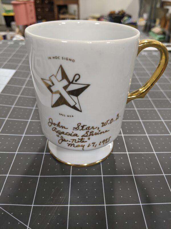Supreme Shrine of the Order of the Whiteshrine of Jerusalem Coffee Mug Freemasonry c. 1995