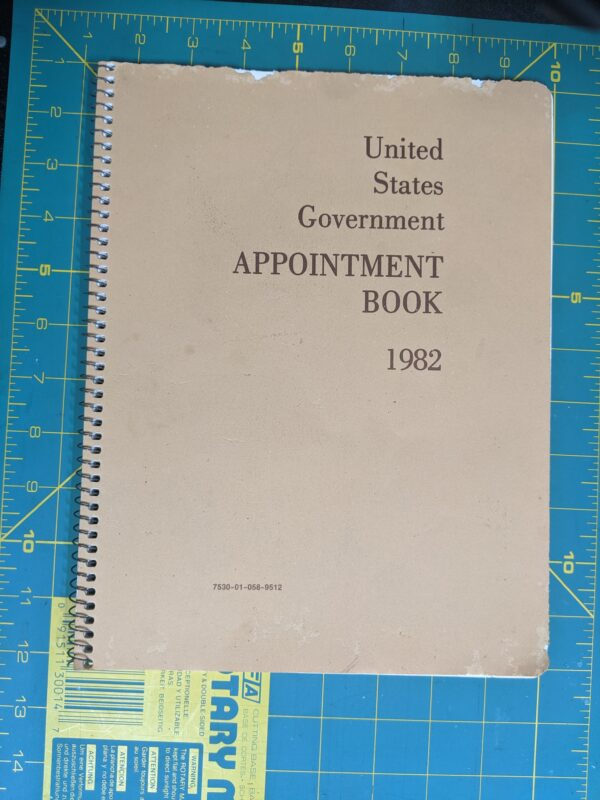 United States Government Appointment Book 1982