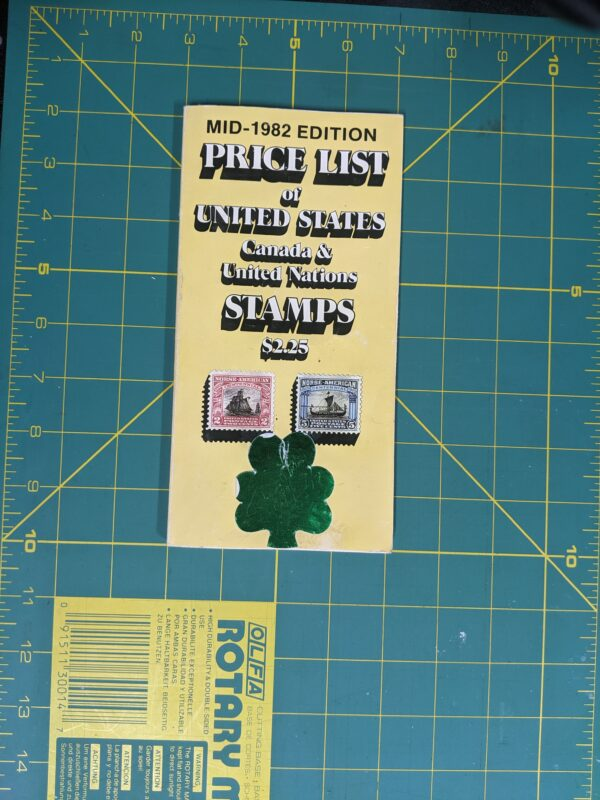 Mid 1982 Edition: Price List of United States, Canada, and United Nations Stamps