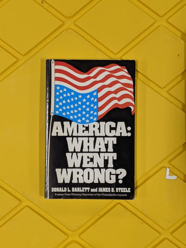 America: What Went Wrong? by Donald L. Bartlett and James B. Steele 1993