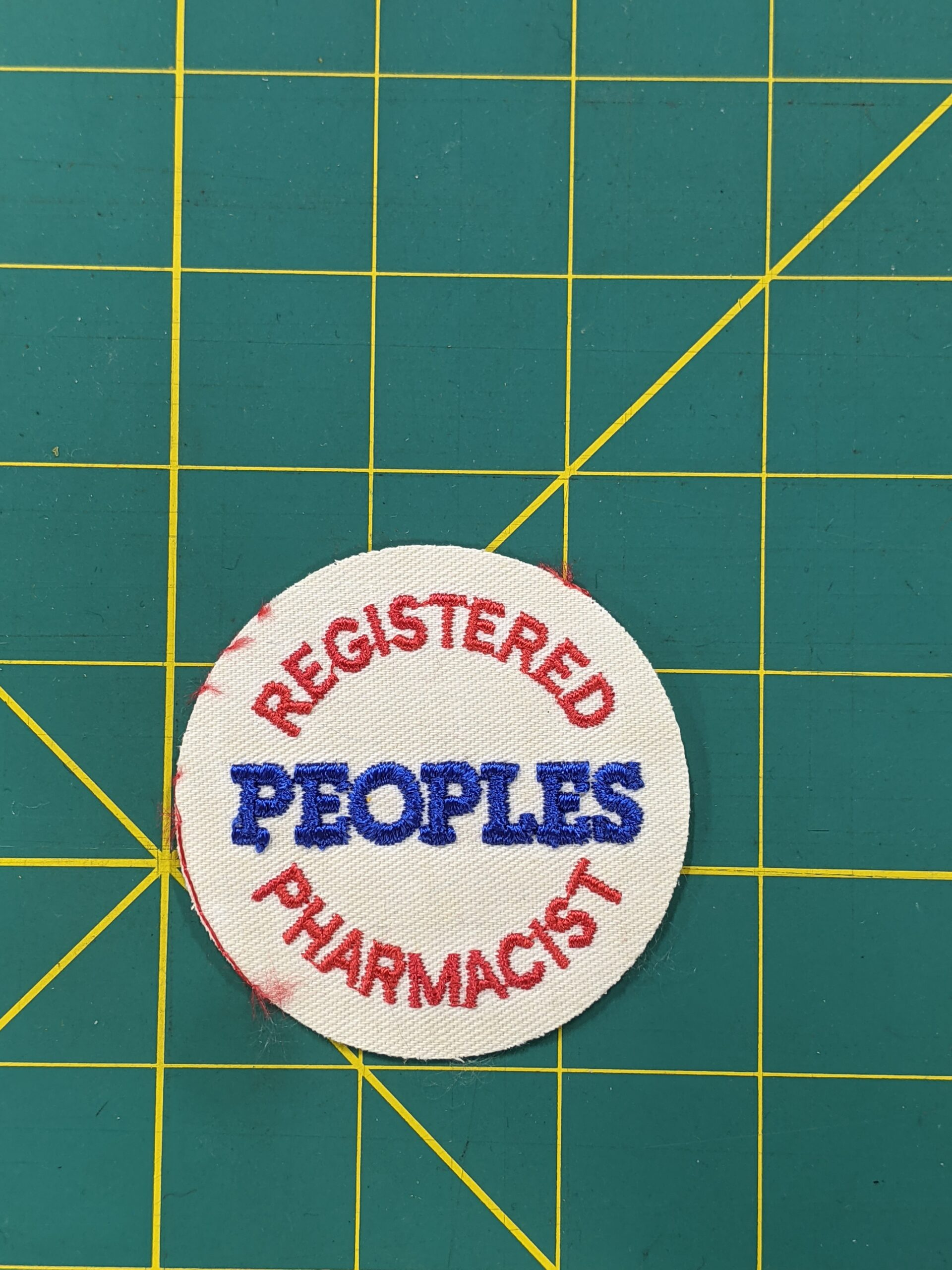 """Registered Peoples Pharmacist Sew-on Patch 2.5"""""""